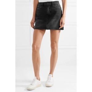 FRAME Le Mini Denim Skirt Faded Conwell Black 29